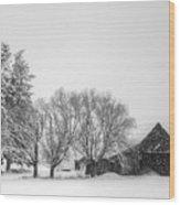 Peaceful Barn Wood Print