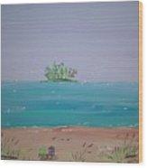 Peaceful Beach Wood Print