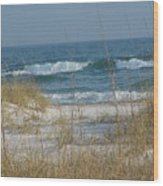 Peaceful  Beach Shoreline Wood Print