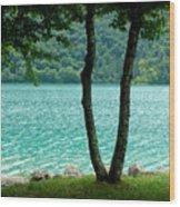 Peaceful Blue Waters Wood Print