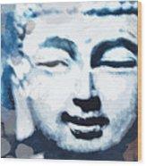 Peaceful Buddha 2- Art By Linda Woods Wood Print