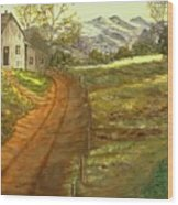 Peaceful Country Wood Print