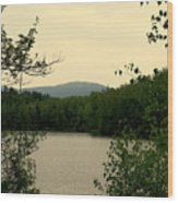 Peaceful Cove Wood Print