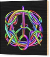 Peaceful Dicks  Wood Print