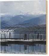 Peaceful Docks At Priest Lake Wood Print