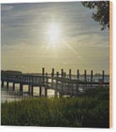 Peaceful Evening At Cooper River Wood Print