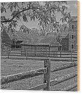 Peaceful Farm Wood Print