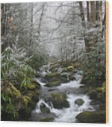 Peaceful Flow Wood Print