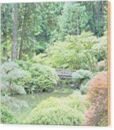 Peaceful Garden Space Wood Print