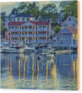 Peaceful Harbor Wood Print
