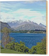 Peaceful Lake -- New Zealand Wood Print