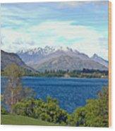 Peaceful Lake -- New Zealand Wood Print