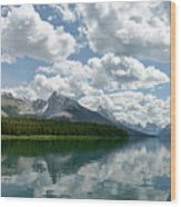 Peaceful Maligne Lake Wood Print