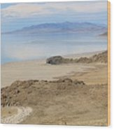 Peaceful Moments By The Salt Lake 4 Wood Print