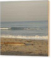 Peaceful Morning Beach Wood Print