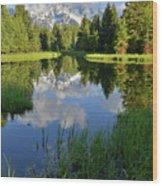 Peaceful Morning In Grand Teton Np Wood Print