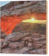 Peaceful Morning - Sunrise At Mesa Arch - Moab Utah Wood Print