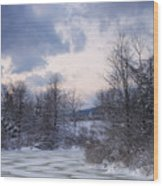 Peaceful Pastels Of A Winter Sunset Wood Print
