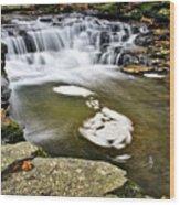 Peaceful Pool Waterfall Wood Print