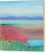 Peaceful Poppies Wood Print