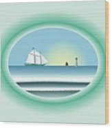 Peaceful Porthole Wood Print