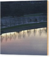 Peaceful Reflection Wood Print