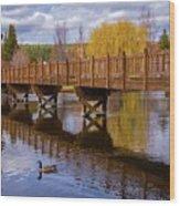 Peaceful Reflections At Drake Park Wood Print