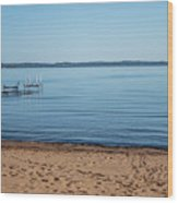 Grand Traverse Bay Beach-michigan  Wood Print