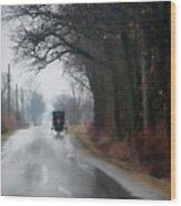 Peaceful Road Wood Print