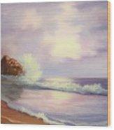 Peaceful Sea Wood Print