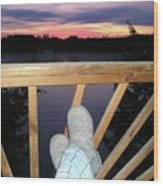 Peaceful View Wood Print
