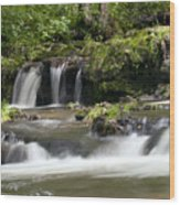 Peaceful Waterfall Wood Print