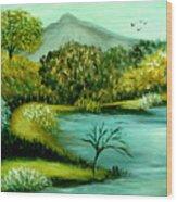 Peaceful  Waters 2 Wood Print