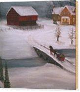 Peaceful Winter Evening Wood Print