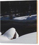 Peaceful Winter Scene Wood Print