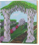 Peacefull Path Wood Print