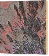 Peach Bombshell Wood Print