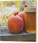 Peach Jelly Wood Print