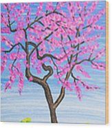 Peach Tree, Painting Wood Print