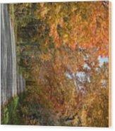 Peacham Side Road Wood Print