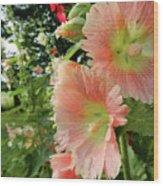 Peaches And Petals Wood Print