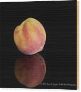Peachy Wood Print