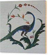 Peackok Wood Print