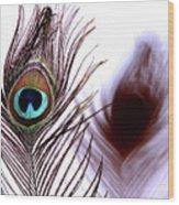 Peacock 8 - Doppleganger Wood Print