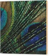 Peacock Eyes Wood Print