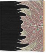 Peacock Fade  Wood Print