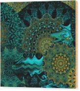 Peacock Fantasia Wood Print