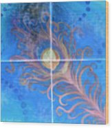 Peacock Feather Abstract Wood Print