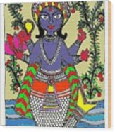 Matsya An Avatar Of Hundi God Vishnu  Wood Print