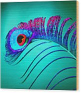 Peacock Feathers 5 Wood Print
